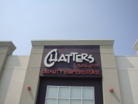 Store front for Chatters Salon
