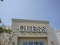 Store front for Guess Factory Store