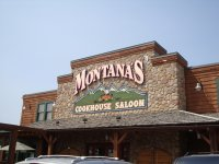 Store front for Montana's Steak House