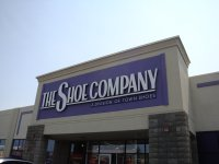 Store front for The Shoe Company
