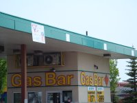 Store front for Real Canadian Gas Bar