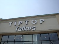 Store front for Tip Top Tailors